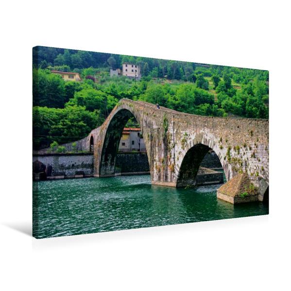 Premium Textil-Leinwand 75 cm x 50 cm quer, Teufelsbrücke | Wandbild, Bild auf Keilrahmen, Fertigbild auf echter Leinwand, Leinwanddruck - Coverbild