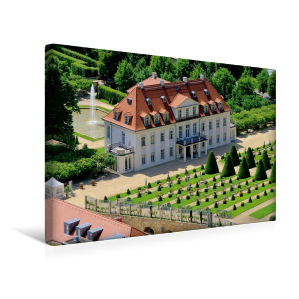 Premium Textil-Leinwand 45 cm x 30 cm quer, Schloss Wackerbarth | Wandbild, Bild auf Keilrahmen, Fertigbild auf echter Leinwand, Leinwanddruck - Coverbild