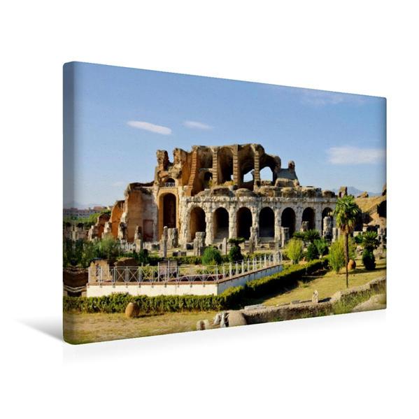Premium Textil-Leinwand 45 cm x 30 cm quer, Amphitheater in Capua, Italien   Wandbild, Bild auf Keilrahmen, Fertigbild auf echter Leinwand, Leinwanddruck - Coverbild