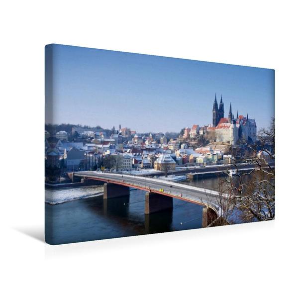 Premium Textil-Leinwand 45 cm x 30 cm quer, Meißen | Wandbild, Bild auf Keilrahmen, Fertigbild auf echter Leinwand, Leinwanddruck - Coverbild