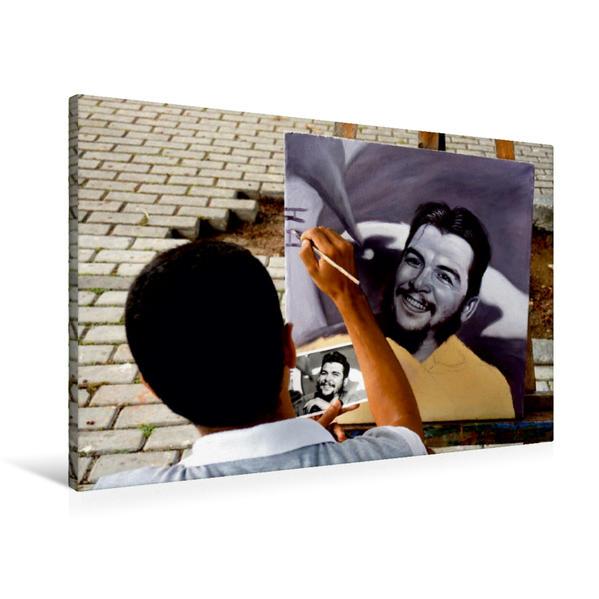 Premium Textil-Leinwand 90 cm x 60 cm quer, Ein Motiv aus dem Kalender CHE GUEVARA | Wandbild, Bild auf Keilrahmen, Fertigbild auf echter Leinwand, Leinwanddruck - Coverbild