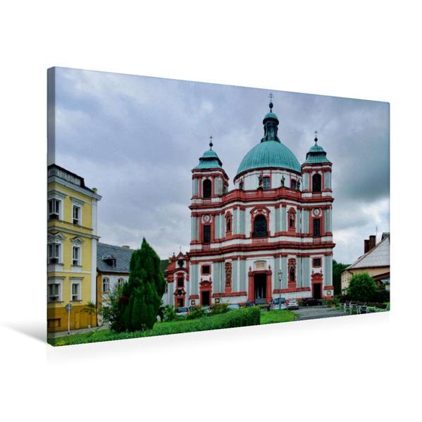 Premium Textil-Leinwand 75 cm x 50 cm quer, Klosterkirche in Deutsch Gabel | Wandbild, Bild auf Keilrahmen, Fertigbild auf echter Leinwand, Leinwanddruck - Coverbild