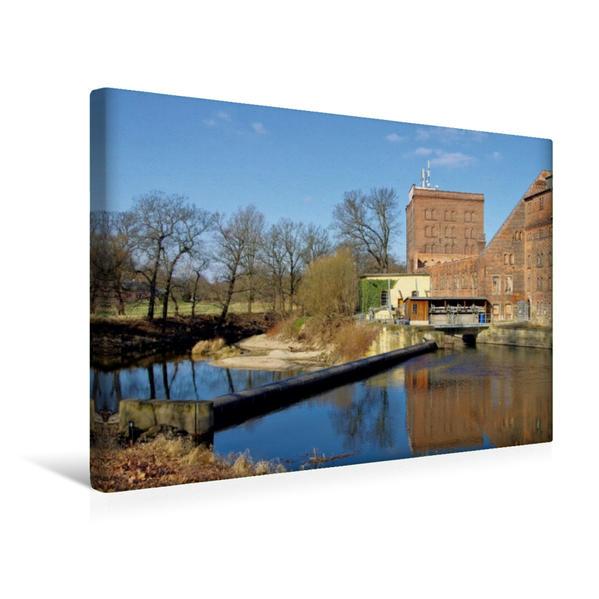 Premium Textil-Leinwand 45 cm x 30 cm quer, Jonitzer Mühle | Wandbild, Bild auf Keilrahmen, Fertigbild auf echter Leinwand, Leinwanddruck - Coverbild