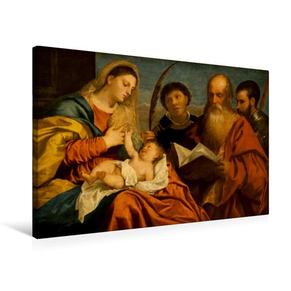Premium Textil-Leinwand 75 cm x 50 cm quer, Ein Motiv aus dem Kalender Jesus Christus - Das Leben Christi auf Gemälden der alten Meister | Wandbild, Bild auf Keilrahmen, Fertigbild auf echter Leinwand, Leinwanddruck - Coverbild