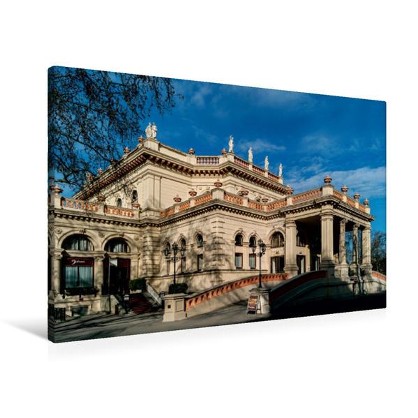 Premium Textil-Leinwand 90 cm x 60 cm quer, Ein Motiv aus dem Kalender Die Wiener Ringstrasse   Wandbild, Bild auf Keilrahmen, Fertigbild auf echter Leinwand, Leinwanddruck - Coverbild