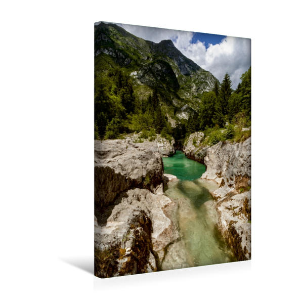 Premium Textil-Leinwand 30 cm x 45 cm hoch, Ein Motiv aus dem Kalender Soca - Sloweniens Smaragdfluss | Wandbild, Bild auf Keilrahmen, Fertigbild auf echter Leinwand, Leinwanddruck - Coverbild