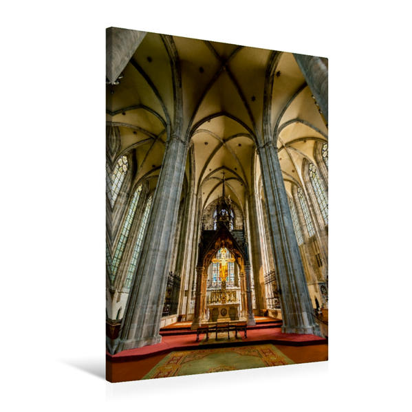 Premium Textil-Leinwand 60 cm x 90 cm hoch, Une scène du calendrier
