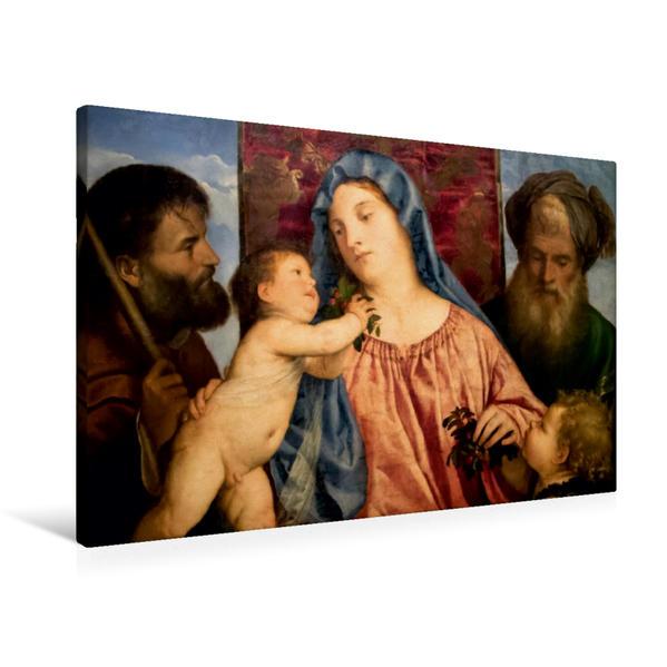 Premium Textil-Leinwand 90 cm x 60 cm quer, Ein Motiv aus dem Kalender Tiziano Vecellio - Tizian | Wandbild, Bild auf Keilrahmen, Fertigbild auf echter Leinwand, Leinwanddruck - Coverbild