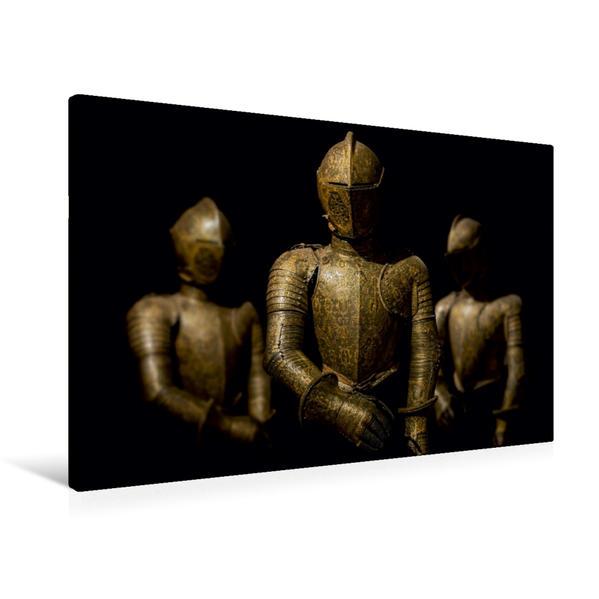 Premium Textil-Leinwand 90 cm x 60 cm quer, Ein Motiv aus dem Kalender Historische Rüstungen und Waffen   Wandbild, Bild auf Keilrahmen, Fertigbild auf echter Leinwand, Leinwanddruck - Coverbild