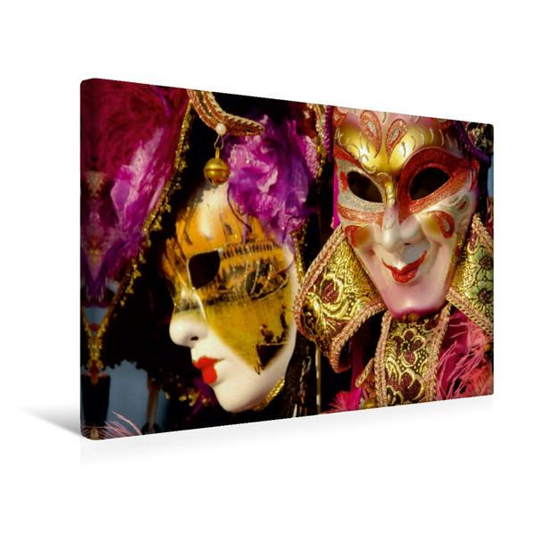 Premium Textil-Leinwand 45 cm x 30 cm quer, Venezianische Masken | Wandbild, Bild auf Keilrahmen, Fertigbild auf echter Leinwand, Leinwanddruck - Coverbild