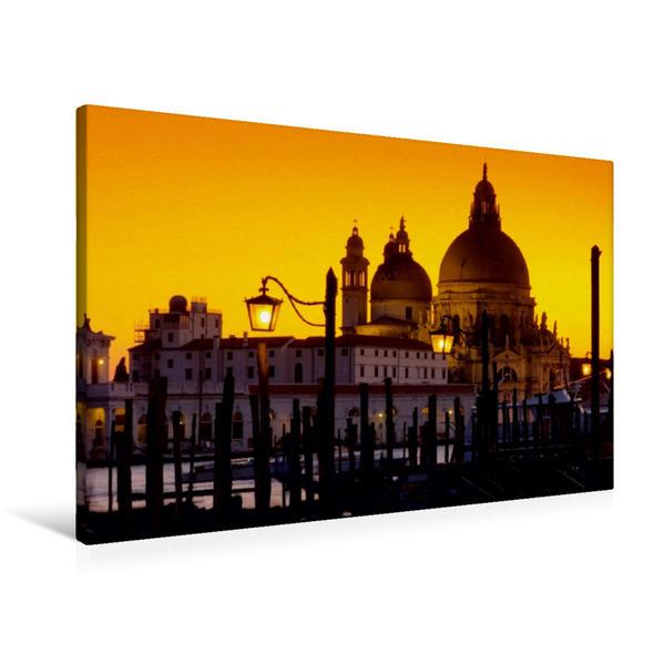 Premium Textil-Leinwand 90 cm x 60 cm quer, Santa Maria della Salute | Wandbild, Bild auf Keilrahmen, Fertigbild auf echter Leinwand, Leinwanddruck - Coverbild