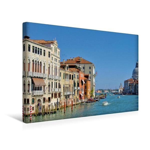 Premium Textil-Leinwand 45 cm x 30 cm quer, Canal Grande | Wandbild, Bild auf Keilrahmen, Fertigbild auf echter Leinwand, Leinwanddruck - Coverbild