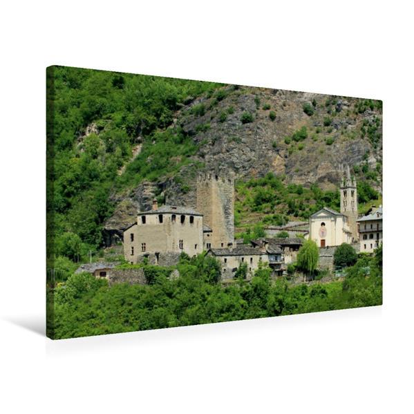 Premium Textil-Leinwand 75 cm x 50 cm quer, Castello di Avise   Wandbild, Bild auf Keilrahmen, Fertigbild auf echter Leinwand, Leinwanddruck - Coverbild