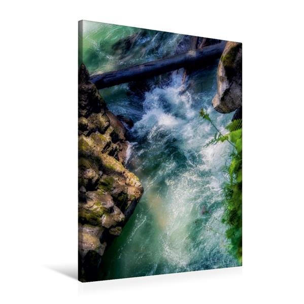 Premium Textil-Leinwand 60 cm x 90 cm hoch, Friedlich dahinfließend | Wandbild, Bild auf Keilrahmen, Fertigbild auf echter Leinwand, Leinwanddruck - Coverbild