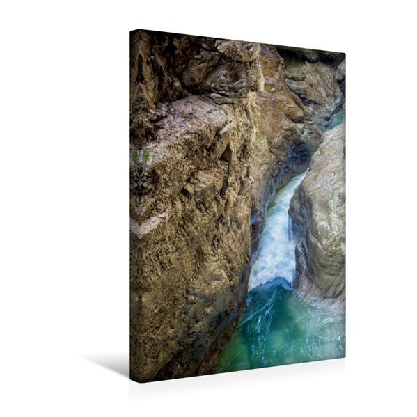 Premium Textil-Leinwand 30 cm x 45 cm hoch, Sprudelnd gehts eng weiter | Wandbild, Bild auf Keilrahmen, Fertigbild auf echter Leinwand, Leinwanddruck - Coverbild