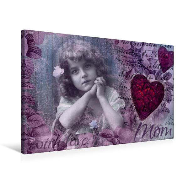 Premium Textil-Leinwand 75 cm x 50 cm quer, Mutterliebe | Wandbild, Bild auf Keilrahmen, Fertigbild auf echter Leinwand, Leinwanddruck - Coverbild