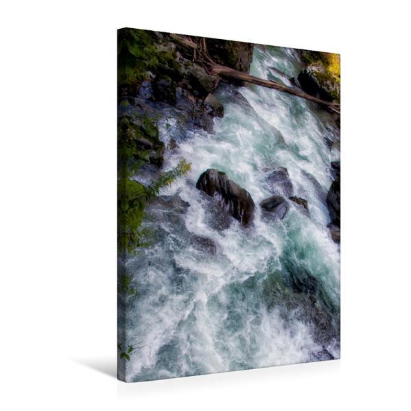 Premium Textil-Leinwand 50 cm x 75 cm hoch, Malerische Strudel | Wandbild, Bild auf Keilrahmen, Fertigbild auf echter Leinwand, Leinwanddruck - Coverbild