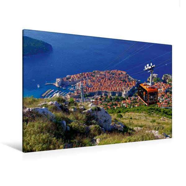 Premium Textil-Leinwand 120 cm x 80 cm quer, Dubrovnik | Wandbild, Bild auf Keilrahmen, Fertigbild auf echter Leinwand, Leinwanddruck - Coverbild