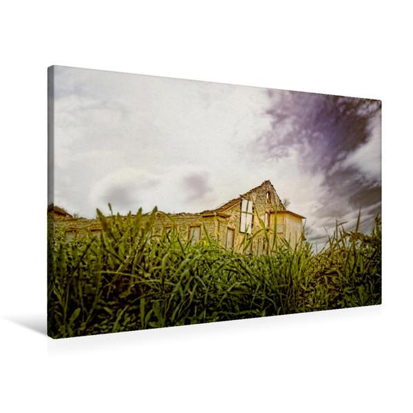 Premium Textil-Leinwand 90 cm x 60 cm quer, Alte Fabrik | Wandbild, Bild auf Keilrahmen, Fertigbild auf echter Leinwand, Leinwanddruck - Coverbild