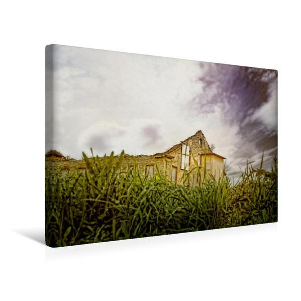 Premium Textil-Leinwand 45 cm x 30 cm quer, Alte Fabrik   Wandbild, Bild auf Keilrahmen, Fertigbild auf echter Leinwand, Leinwanddruck - Coverbild