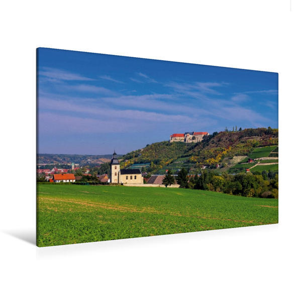 Premium Textil-Leinwand 120 cm x 80 cm quer, Freyburg | Wandbild, Bild auf Keilrahmen, Fertigbild auf echter Leinwand, Leinwanddruck - Coverbild