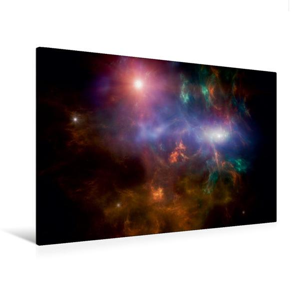 Premium Textil-Leinwand 120 cm x 80 cm quer, kosmische Wolke | Wandbild, Bild auf Keilrahmen, Fertigbild auf echter Leinwand, Leinwanddruck - Coverbild
