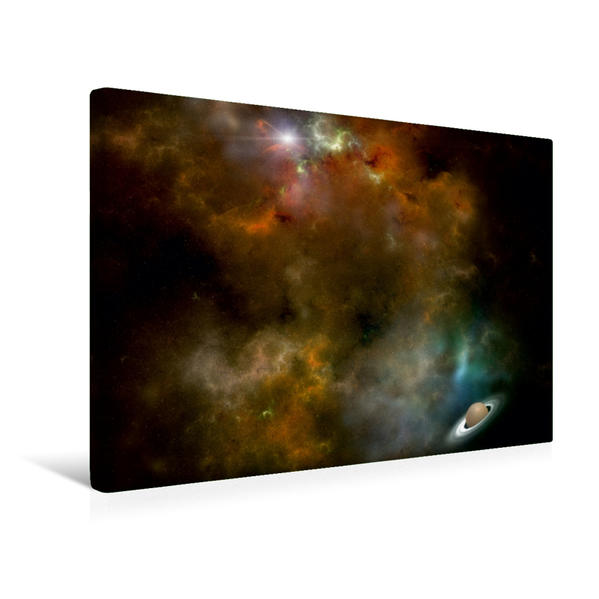 Premium Textil-Leinwand 45 cm x 30 cm quer, kosmische Wolke | Wandbild, Bild auf Keilrahmen, Fertigbild auf echter Leinwand, Leinwanddruck - Coverbild
