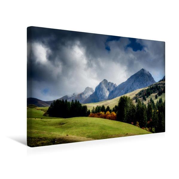 Premium Textil-Leinwand 45 cm x 30 cm quer, Ein Motiv aus dem Kalender Landscapes von Haute-Savoie | Wandbild, Bild auf Keilrahmen, Fertigbild auf echter Leinwand, Leinwanddruck - Coverbild