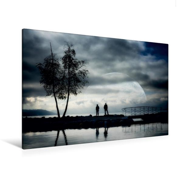 Premium Textil-Leinwand 120 cm x 80 cm quer, Angelpartie   Wandbild, Bild auf Keilrahmen, Fertigbild auf echter Leinwand, Leinwanddruck - Coverbild