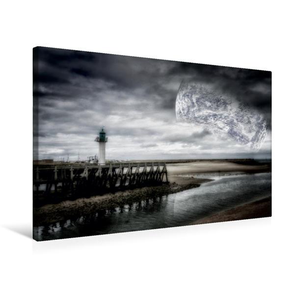 Premium Textil-Leinwand 75 cm x 50 cm quer, Mondlicht | Wandbild, Bild auf Keilrahmen, Fertigbild auf echter Leinwand, Leinwanddruck - Coverbild