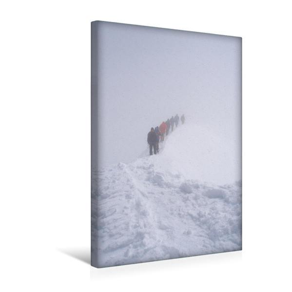 Premium Textil-Leinwand 30 cm x 45 cm hoch, Großvenediger, Gipfelgrat 2006 | Wandbild, Bild auf Keilrahmen, Fertigbild auf echter Leinwand, Leinwanddruck - Coverbild