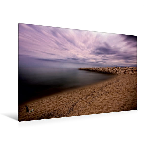 Premium Textil-Leinwand 120 cm x 80 cm quer, Spiaggia di Budoni | Wandbild, Bild auf Keilrahmen, Fertigbild auf echter Leinwand, Leinwanddruck - Coverbild