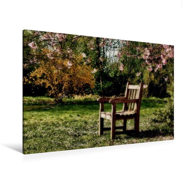 Premium Textil-Leinwand 120 cm x 80 cm quer, Auf die Frühlingssonne wartend | Wandbild, Bild auf Keilrahmen, Fertigbild auf echter Leinwand, Leinwanddruck - Coverbild