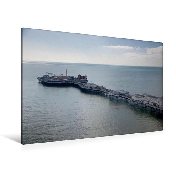 Premium Textil-Leinwand 120 cm x 80 cm quer, Neuer BrightonPier | Wandbild, Bild auf Keilrahmen, Fertigbild auf echter Leinwand, Leinwanddruck - Coverbild