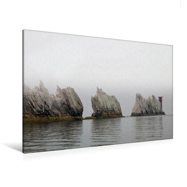 Premium Textil-Leinwand 120 cm x 80 cm quer, Isle of Wright Needles | Wandbild, Bild auf Keilrahmen, Fertigbild auf echter Leinwand, Leinwanddruck - Coverbild