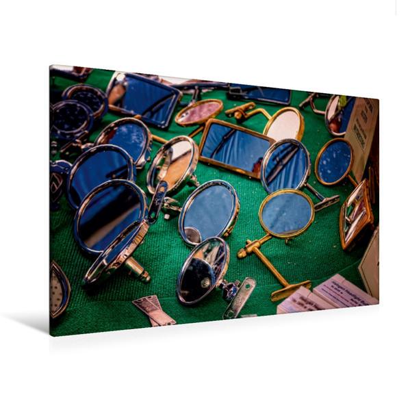 Premium Textil-Leinwand 120 cm x 80 cm quer, Außenspiegel | Wandbild, Bild auf Keilrahmen, Fertigbild auf echter Leinwand, Leinwanddruck - Coverbild