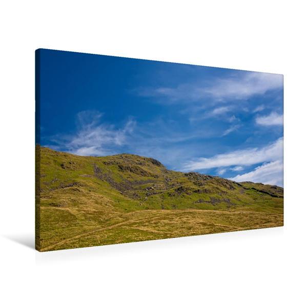 Premium Textil-Leinwand 90 cm x 60 cm quer, Berghöhen | Wandbild, Bild auf Keilrahmen, Fertigbild auf echter Leinwand, Leinwanddruck - Coverbild