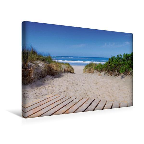 Premium Textil-Leinwand 45 cm x 30 cm quer, Langeoog | Wandbild, Bild auf Keilrahmen, Fertigbild auf echter Leinwand, Leinwanddruck - Coverbild