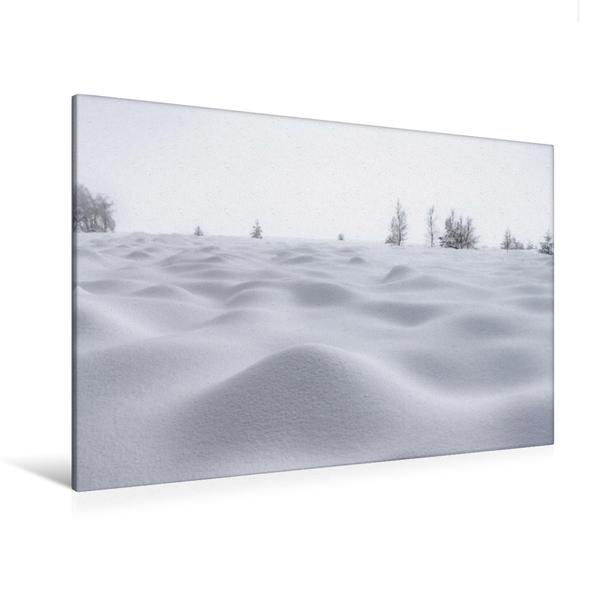 Premium Textil-Leinwand 120 cm x 80 cm quer, Das Hohe Venn im Winter | Wandbild, Bild auf Keilrahmen, Fertigbild auf echter Leinwand, Leinwanddruck - Coverbild