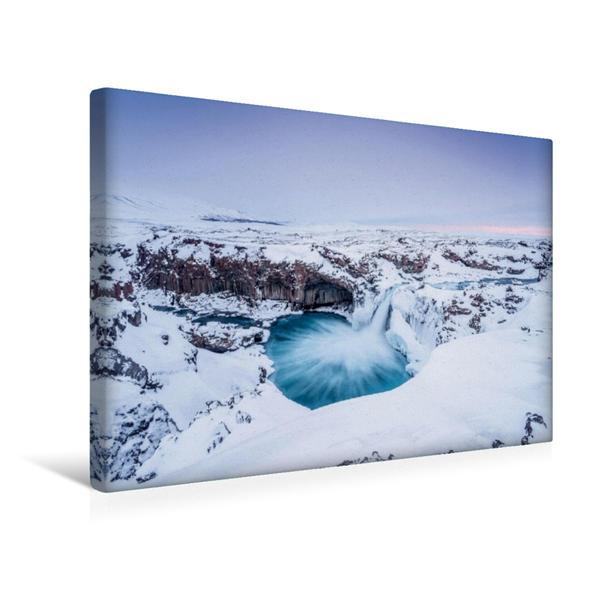 Premium Textil-Leinwand 45 cm x 30 cm quer, Ein Motiv aus dem Kalender Island - Ein Wintertraum | Wandbild, Bild auf Keilrahmen, Fertigbild auf echter Leinwand, Leinwanddruck - Coverbild