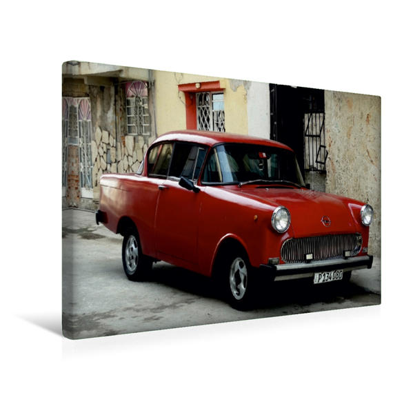 Premium Textil-Leinwand 45 cm x 30 cm quer, Ein Motiv aus dem Kalender Auto Legenden OPEL REKORD P1 | Wandbild, Bild auf Keilrahmen, Fertigbild auf echter Leinwand, Leinwanddruck - Coverbild