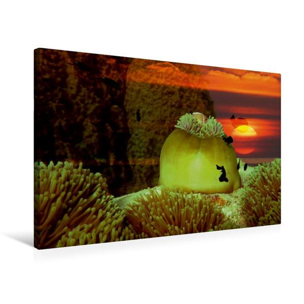 Premium Textil-Leinwand 75 cm x 50 cm quer, Surreale Unterwasserwelt | Wandbild, Bild auf Keilrahmen, Fertigbild auf echter Leinwand, Leinwanddruck - Coverbild