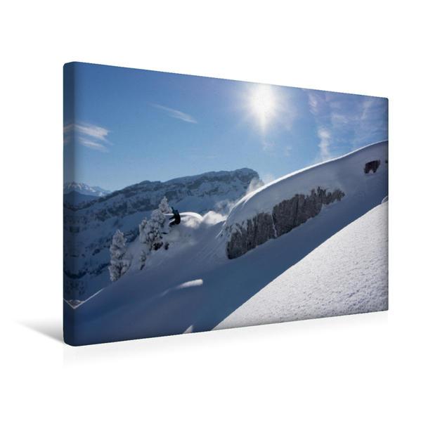 Premium Textil-Leinwand 45 cm x 30 cm quer, Snowboard | Wandbild, Bild auf Keilrahmen, Fertigbild auf echter Leinwand, Leinwanddruck - Coverbild