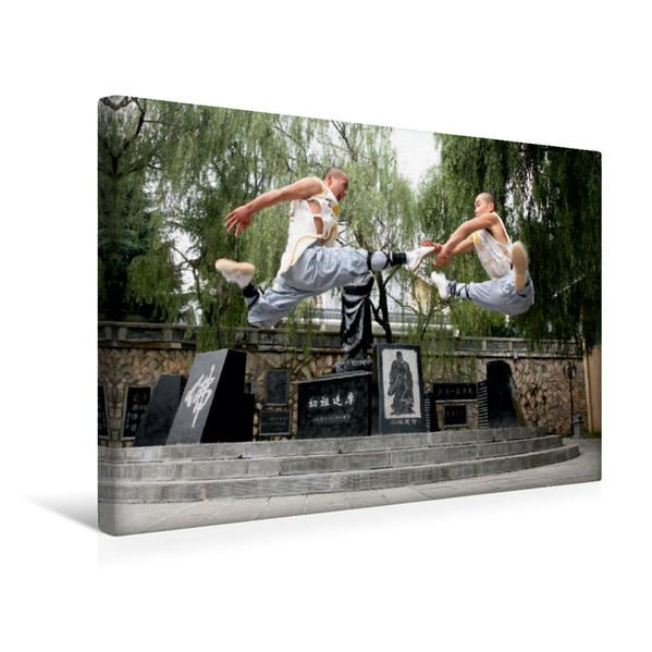 Premium Textil-Leinwand 45 cm x 30 cm quer, Shaolin Kung Fu | Wandbild, Bild auf Keilrahmen, Fertigbild auf echter Leinwand, Leinwanddruck - Coverbild