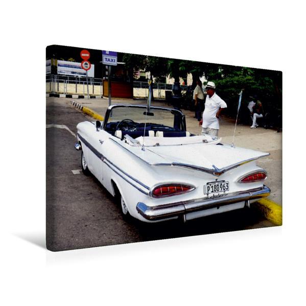 Premium Textil-Leinwand 45 cm x 30 cm quer, Chevrolet Impala in Havanna - Ein Motiv aus dem Kalender
