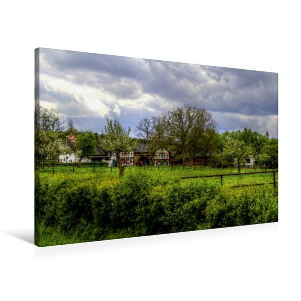 Premium Textil-Leinwand 90 cm x 60 cm quer, Wachendorf in der Voreifel | Wandbild, Bild auf Keilrahmen, Fertigbild auf echter Leinwand, Leinwanddruck - Coverbild