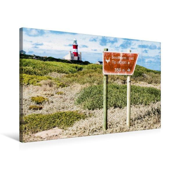 Premium Textil-Leinwand 75 cm x 50 cm quer, Am Südlichsten Punkt   Wandbild, Bild auf Keilrahmen, Fertigbild auf echter Leinwand, Leinwanddruck - Coverbild