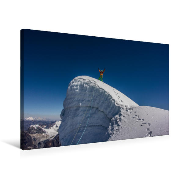 Premium Textil-Leinwand 75 cm x 50 cm quer, Ein Motiv aus dem Kalender Climbing Solutions Bergsport weltweit | Wandbild, Bild auf Keilrahmen, Fertigbild auf echter Leinwand, Leinwanddruck - Coverbild