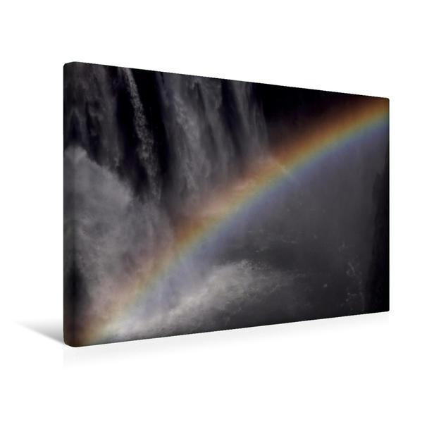 Premium Textil-Leinwand 45 cm x 30 cm quer, Viktoriafälle / Sambia   Wandbild, Bild auf Keilrahmen, Fertigbild auf echter Leinwand, Leinwanddruck - Coverbild