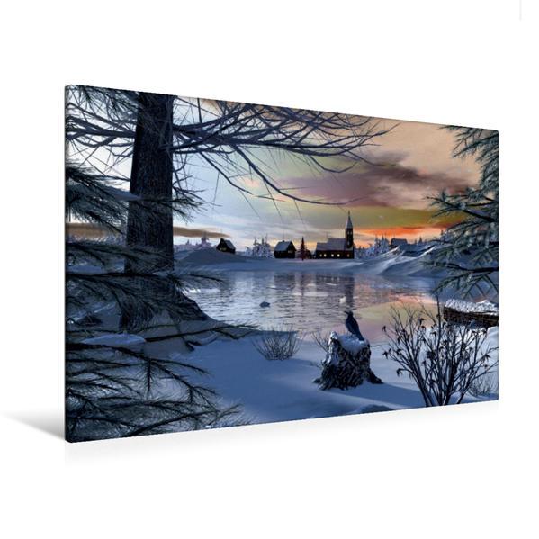 Premium Textil-Leinwand 120 cm x 80 cm quer, Close to Christmas | Wandbild, Bild auf Keilrahmen, Fertigbild auf echter Leinwand, Leinwanddruck - Coverbild